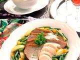 Zweierlei Fleisch aus dem Sud mit Gemüse Rezept