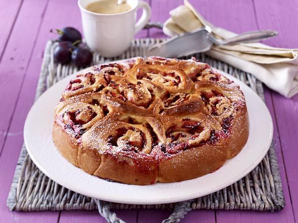 Zwetschen-Rosettenkuchen Rezept