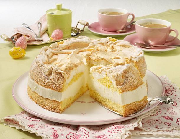 Zitronencreme Torte Mit Baiserhaube Rezept Lecker