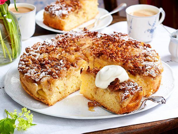 Apfelkuchen Mit Walnusskaramell Rezept Lecker