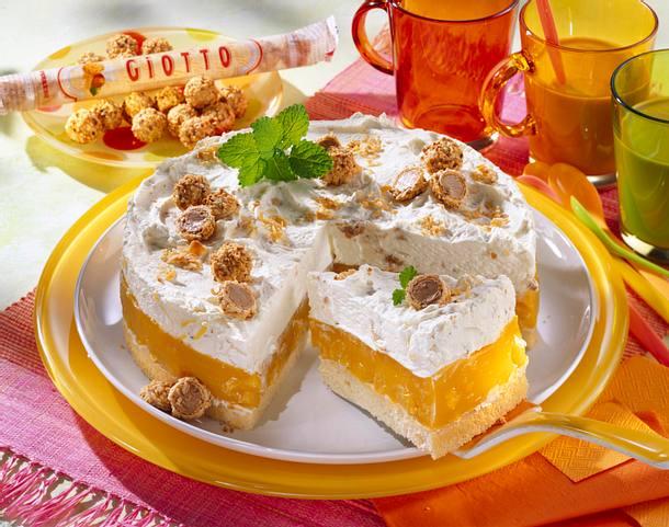 Mandel Pfirsich Torte Rezept Lecker