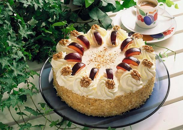 Pflaumen Walnuss Torte Rezept Lecker