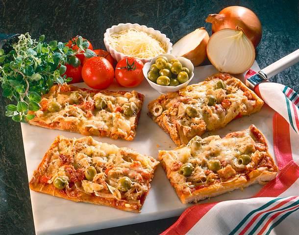 Schnelle Thunfisch Pizza Rezept Lecker