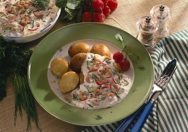 Amerikanischer Kühlschrank Quark : Junge kartoffeln mit frühlingsquark und krabben rezept lecker
