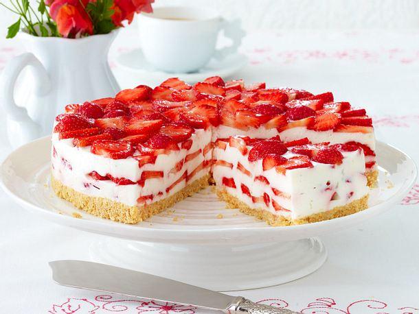 Erdbeer Philadelphia Torte Rezept Lecker