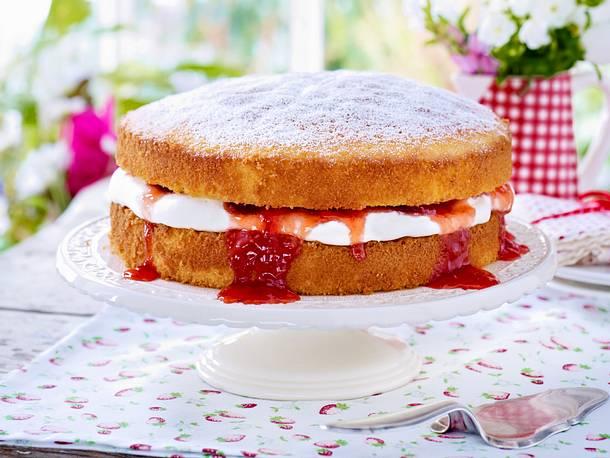 Erdbeer Sahne Kuchen Rezept Lecker