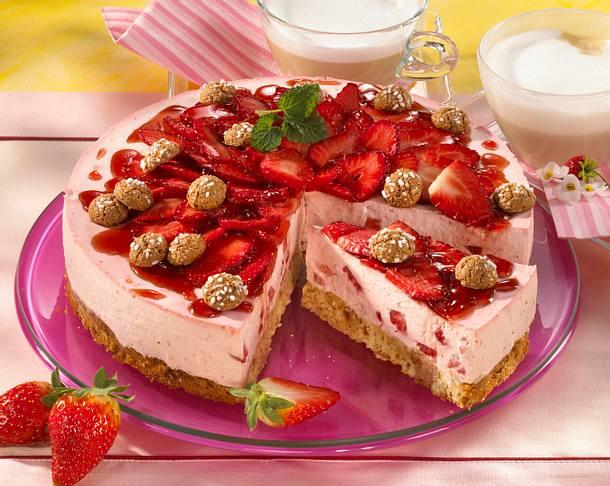 Erdbeer Amarettini Torte Rezept Lecker