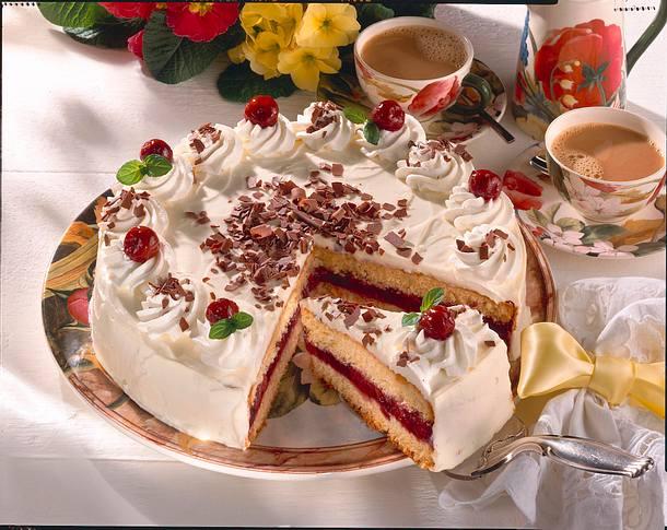 Festliche Kirsch Mascarpone Torte Rezept Lecker