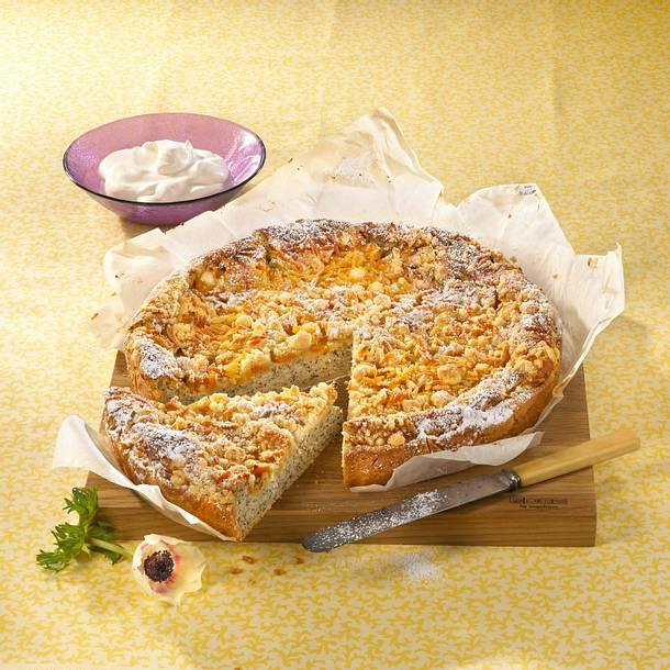 Pfirsich-Mohn-Käsekuchen Rezept | LECKER