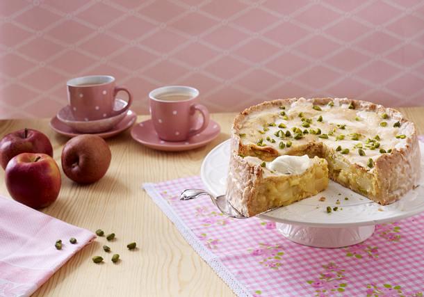 Gedeckter Apfel Birnen Kuchen Backschule Rezept Lecker