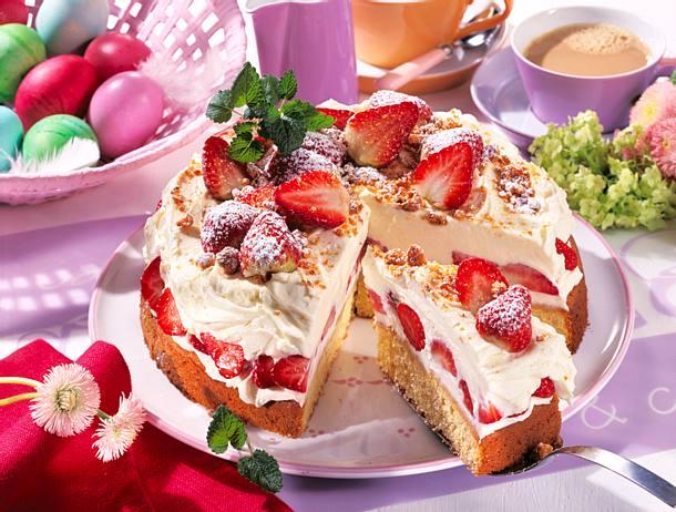 Mascarpone Erdbeer Torte Rezept Lecker