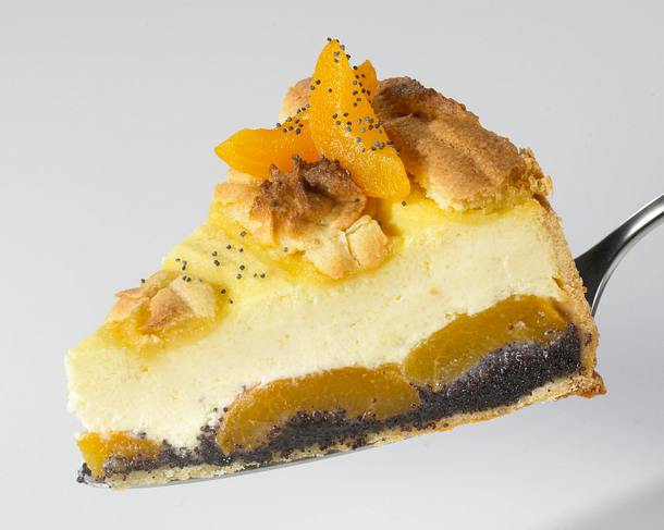 Mohn Marzipan Kasekuchen Mit Aprikosen Rezept Lecker