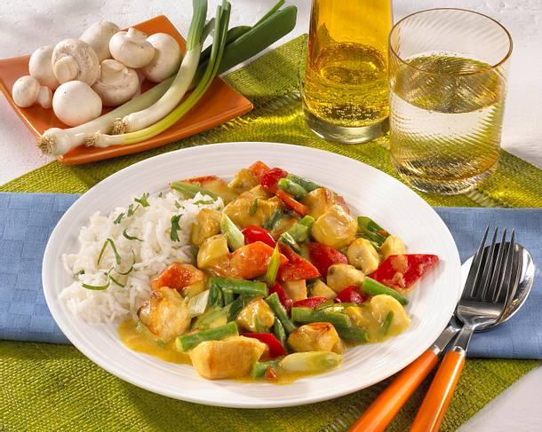 Geflügel Thai Curry Rezept Lecker