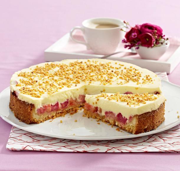 Rhabarber Creme Torte Rezept Lecker