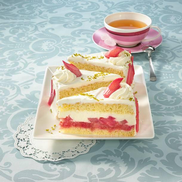 Rhabarber Torte Mit Joghurt Creme Rezept Lecker