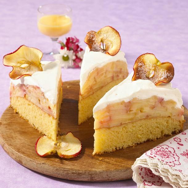 Apfel Eierlikor Torte Rezept Lecker