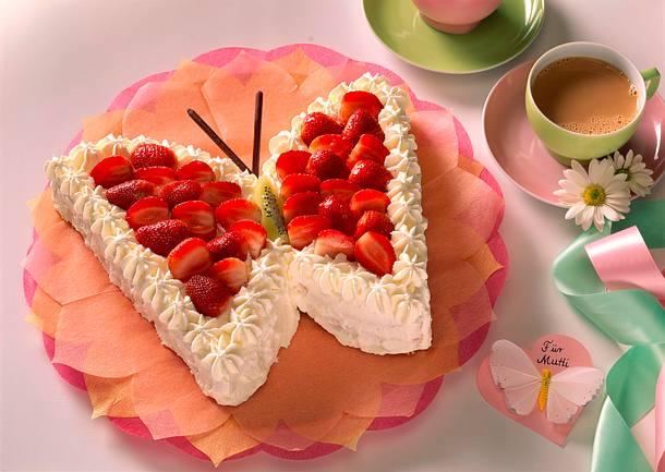 Schmetterlings Torte Rezept Lecker