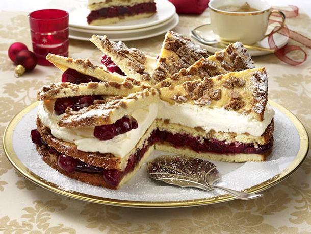 Spekulatius Kirsch Torte Rezept Lecker