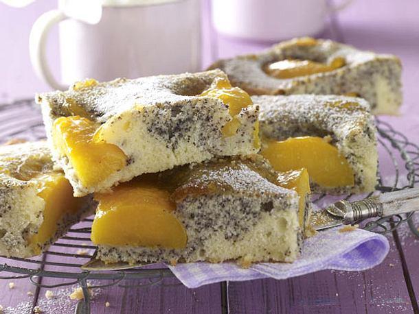 Pfirsich Mohn Kuchen Vom Blech Rezept Lecker