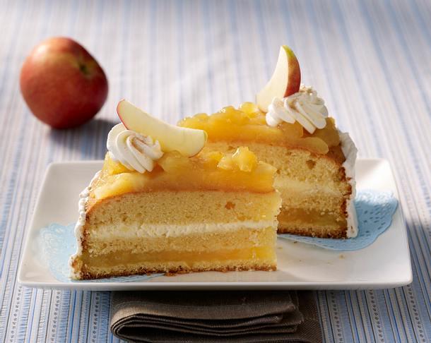 Apfelmus Sahne Torte Rezept Lecker