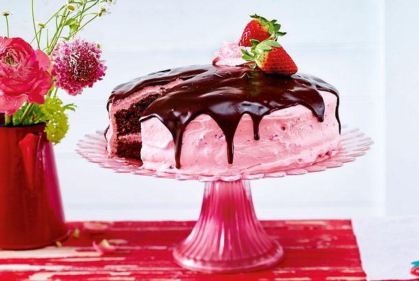 Erdbeer Marshmallow Torte Rezept Lecker