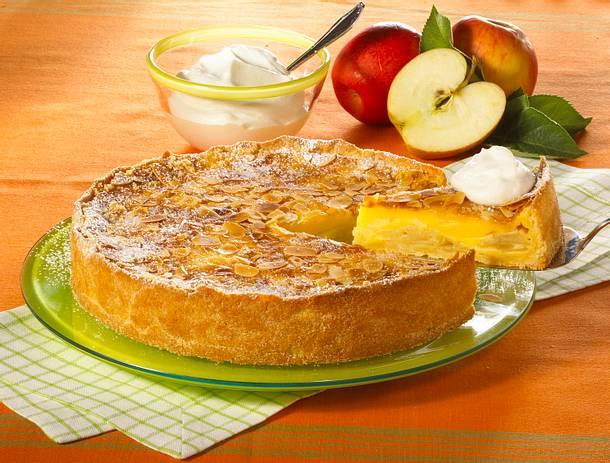 Apfel Pudding Kuchen Rezept Lecker