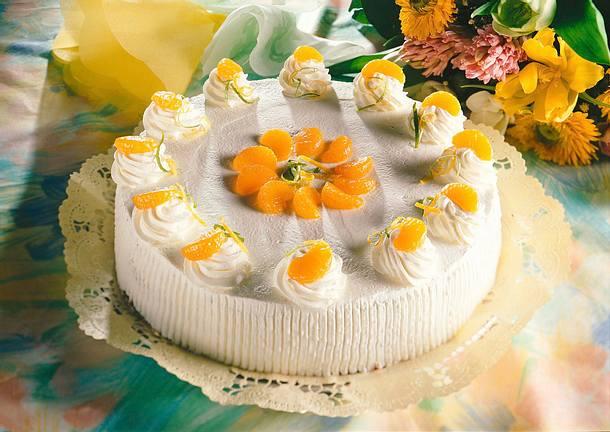 Zitronen Quark Torte Mit Mandarinen Rezept Lecker