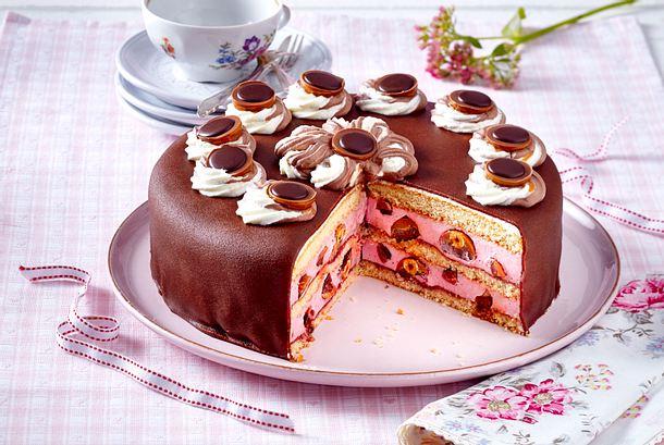 Toffifee Torte Mit Himbeercreme Rezept Lecker