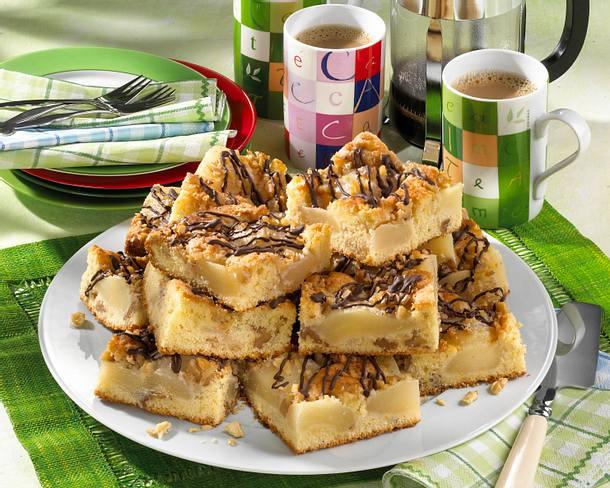 Birnen Nuss Kuchen Vom Blech Rezept Lecker