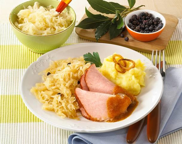 Kasseler Mit Sauerkraut Und Kartoffelpüree Rezept Lecker