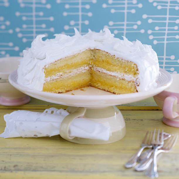 Vanillekuchen Mit Lemon Curd Und Frosting Rezept Cynthia Barcomi