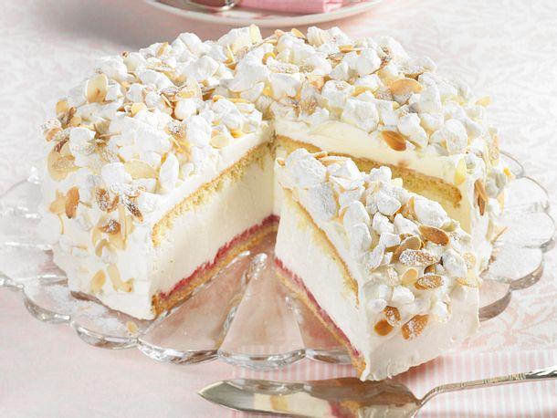 Kase Sahne Torte Mit Baiser Rezept Lecker