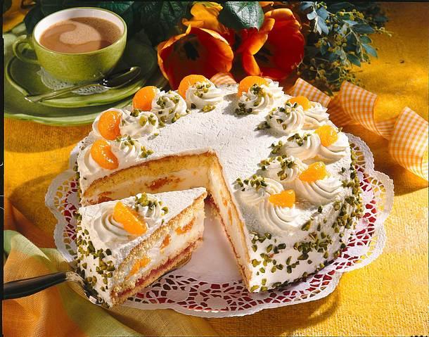 Mandarinen Sahne Torte Rezept Lecker