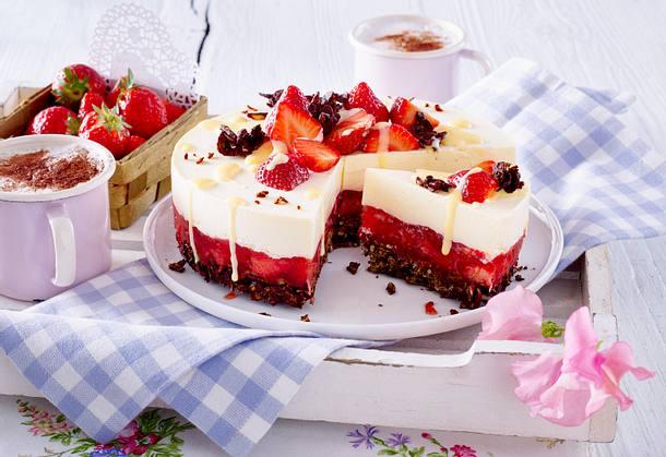 Erdbeer Vanille Torte Rezept Lecker