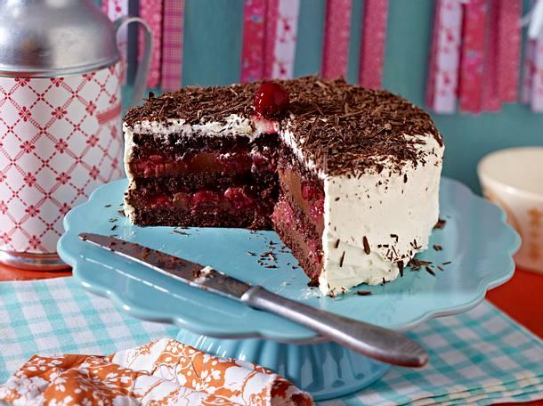Schwarzwalder Kirsch Torte Mit Ganache Rezept Lecker