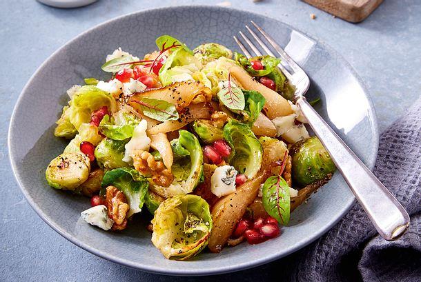 Rosenkohl Birnen Salat Zum Mitnehmen Rezept Lecker