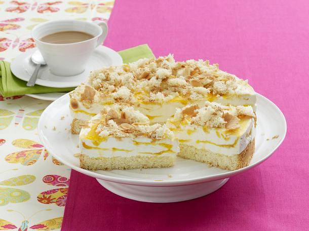 Mandel Torte Mit Aprikosen Mascarpone Creme Rezept Lecker