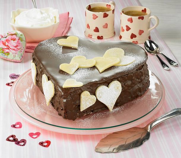 Schoko Marzipan Herz Kuchen Rezept Lecker