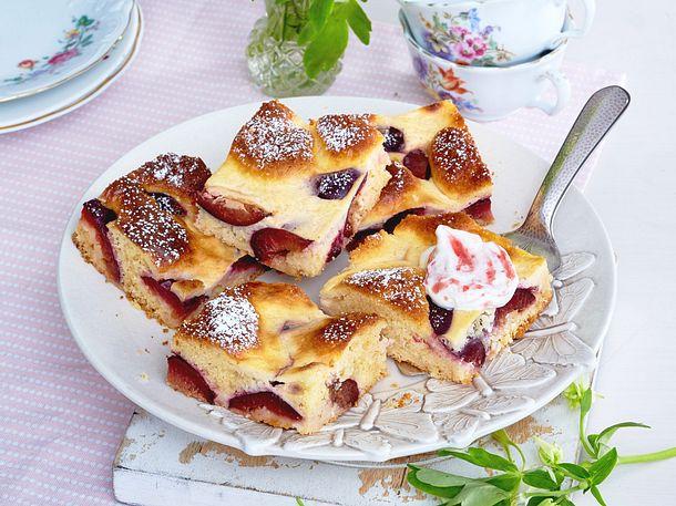 Zwetschgenkuchen Vom Blech Mit Rahm Guss Rezept Lecker