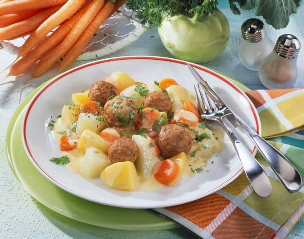Kohlrabi Möhrengemüse Mit Klößchen Rezept Lecker