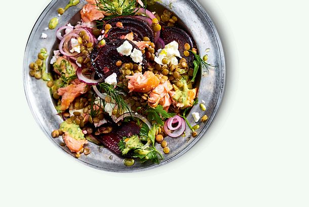 Rote Bete Linsen Salat Rezept Lecker