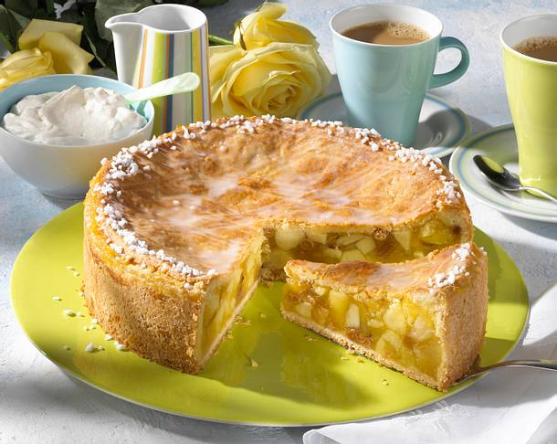 Gedeckter Apfelkuchen Rezept Lecker