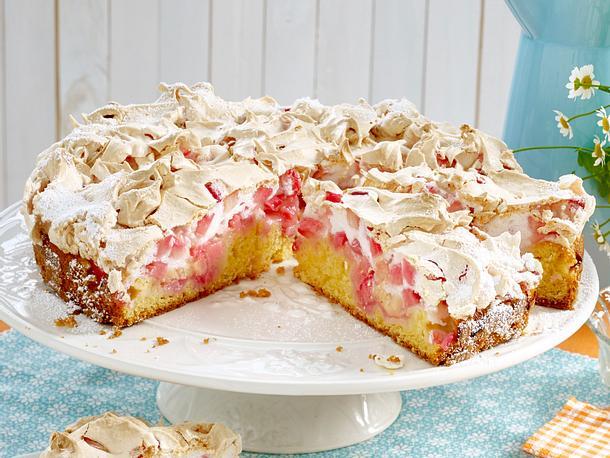 Rhabarber Baiser Kuchen Rezept Lecker