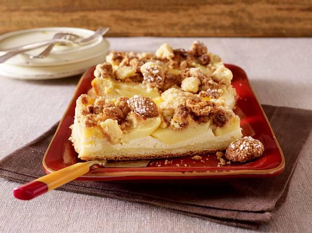 Apfel Vanillecreme Kuchen Mit Amarettini Streusel Rezept Lecker