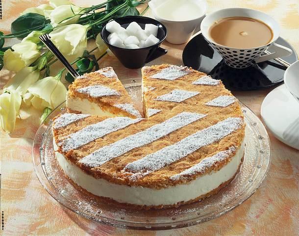 Quark Sahne Torte Rezept Lecker