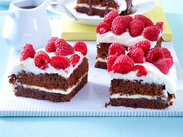Sommerkuchen Rezepte : Himbeer schoko kuchen rezept lecker