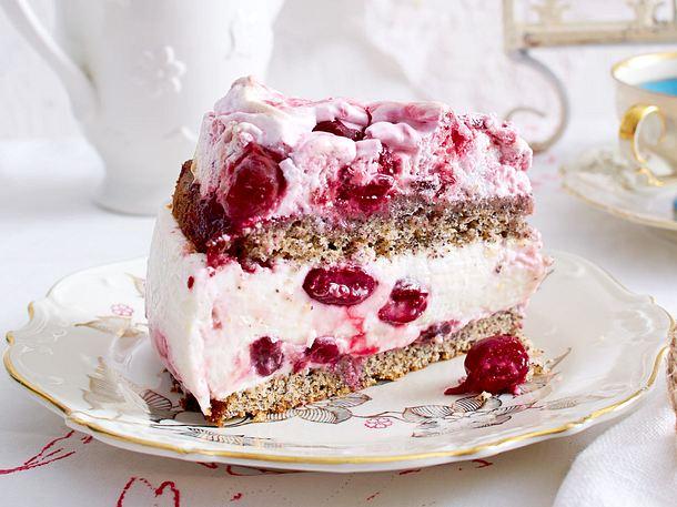 Mohn Baiser Kuchen Mit Kirschen Rezept Lecker