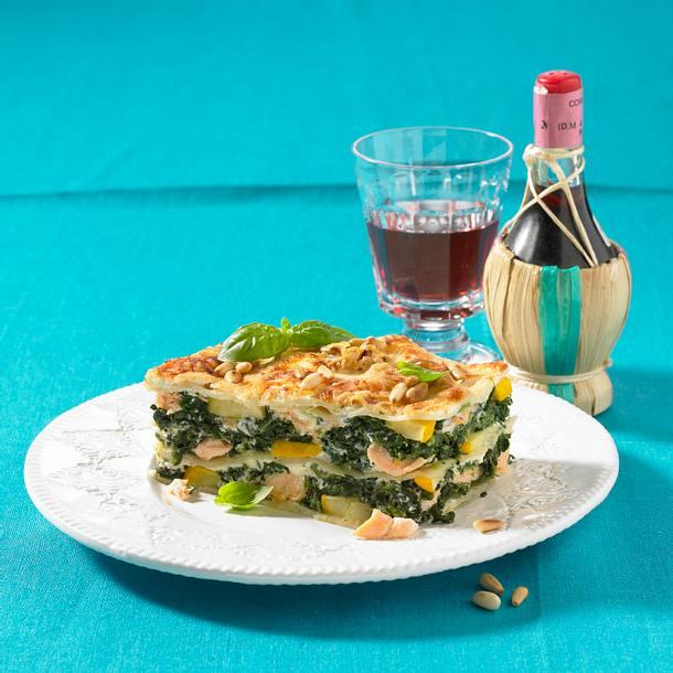 Schnelle Lachs Spinat Lasagne Rezept Lecker