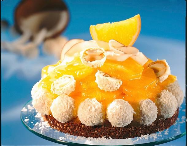 Orangen Kokos Torte Rezept Lecker