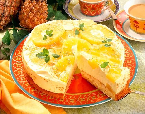 Philadelphia Torte Mit Ananas Und Kokos